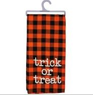 Trick or Treat dish towel