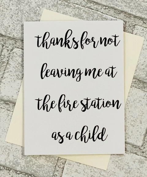 FIRE STATION CARD