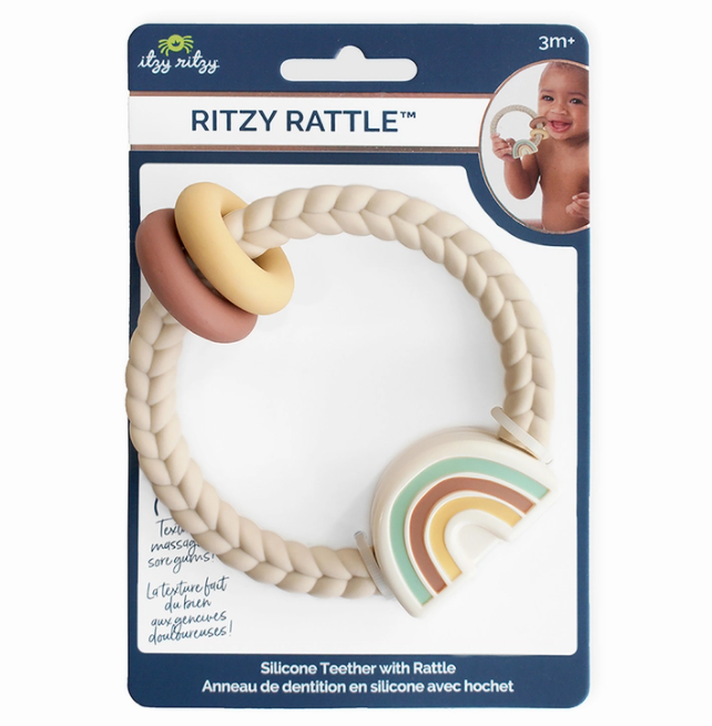 Rainbow Ritzy Rattle™ Silicone Teether
