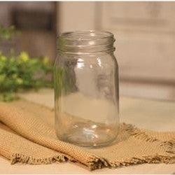 "Clear Glass Jar - 5"""