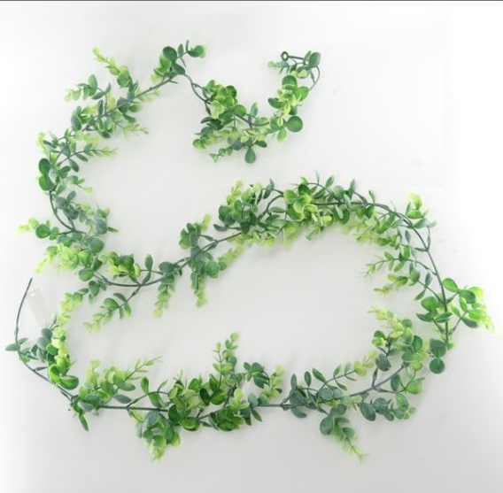 6' Boxwood Garland- Frost