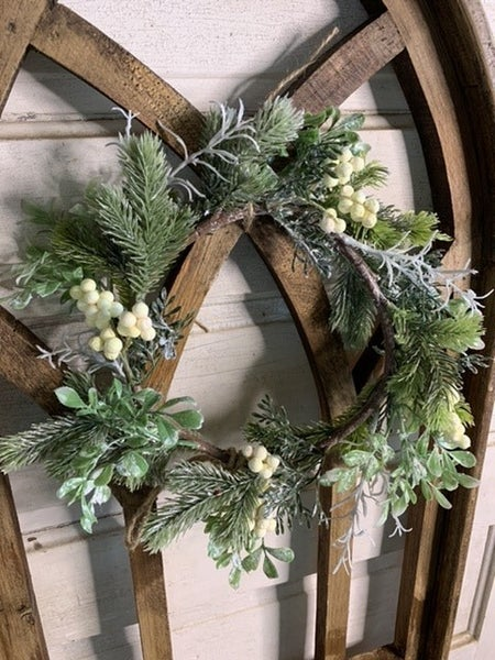 Wreath W/ White Berries