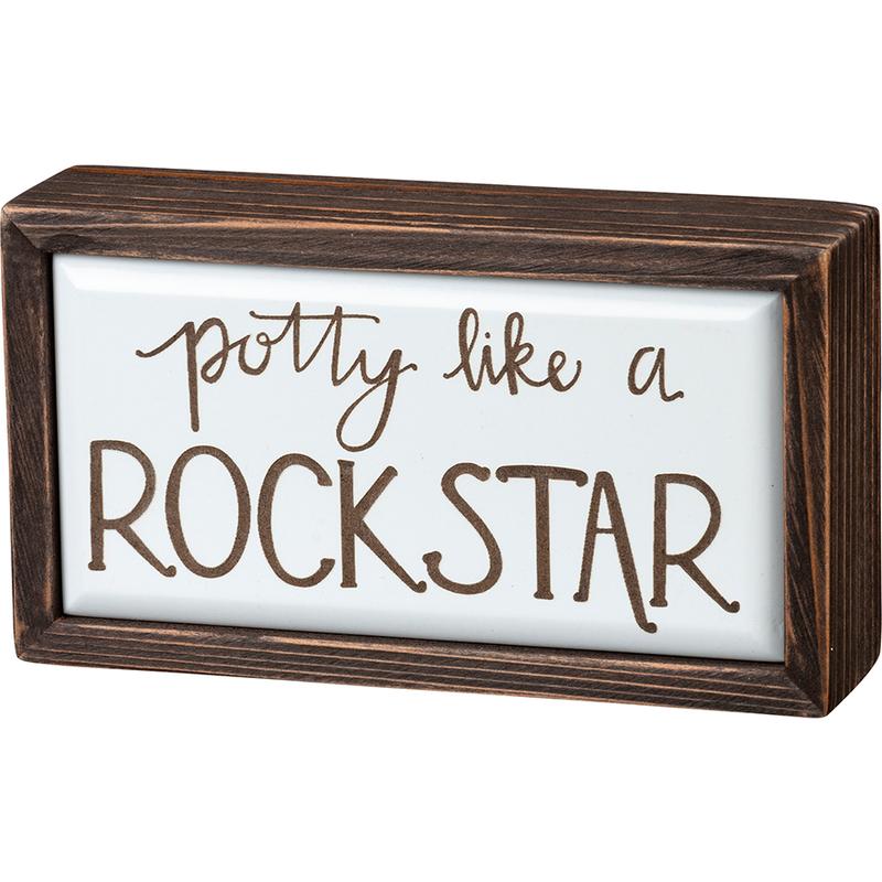 Potty Like A Rock Star Box Sign