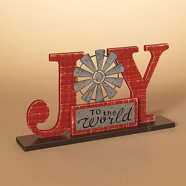 "15""L ""Joy To The World"" Tabletop Sign"