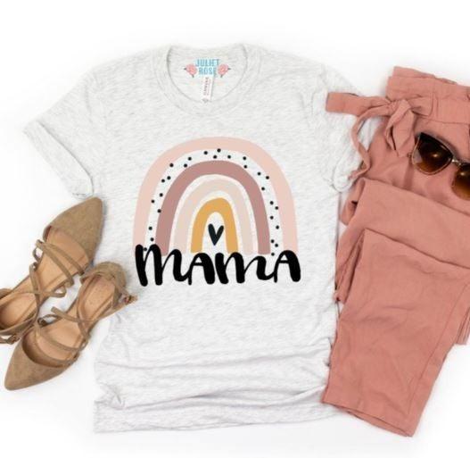 Rainbow Mama Blessed Mom T-Shirt