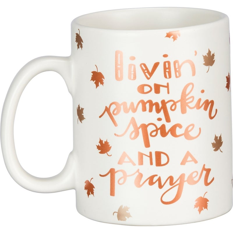 Mug - Livin' On Pumpkin Spice And A Prayer
