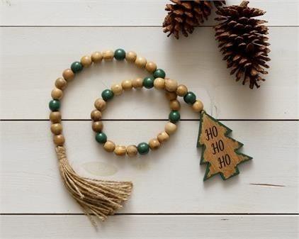 "37"" Farmhouse Beads - Christmas Tree"