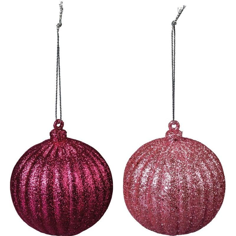 Ornament Set - Lg Pink Balls
