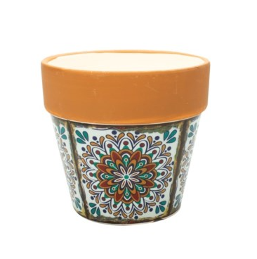 SMALL FLOWER POT CANDLE- CITRUS AND SAGE