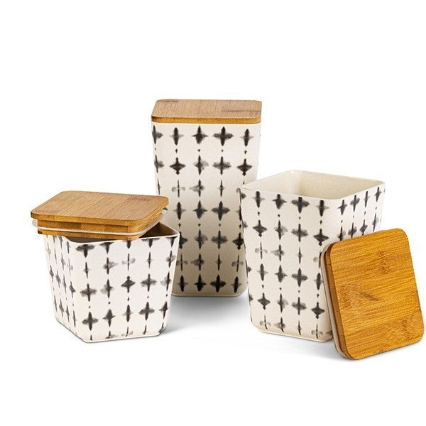 Black & White Bamboo Canister