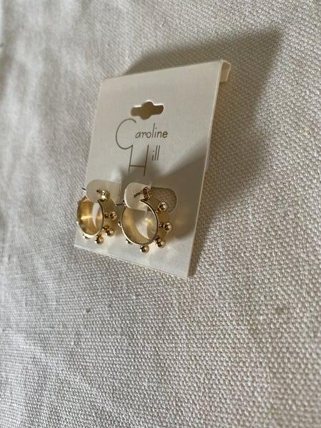 Waterloo Dotted Hoop Earring- GOLD
