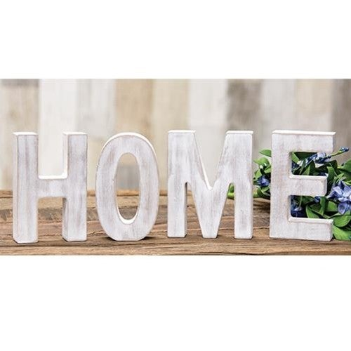 HOME Rustic White Letters