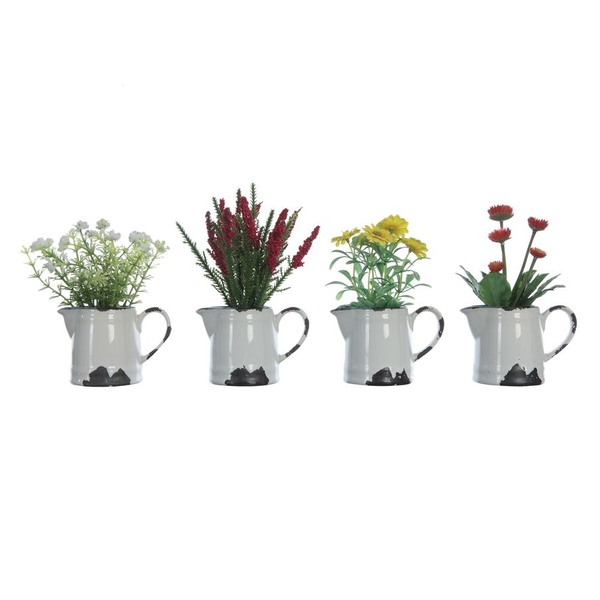 Flowers in Ceramic Pitcher