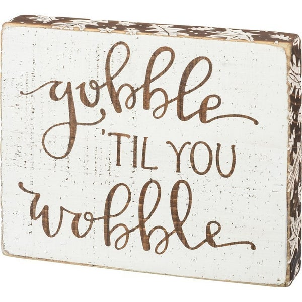 Block Sign - Gobble 'Til You Wobble