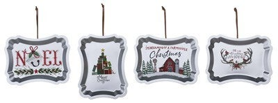Enamel Holiday Tray Ornament
