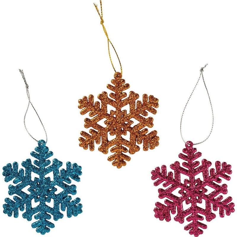 Ornament Set - Sm Snowflakes