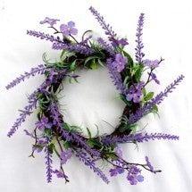 Lavender Wreath w/ Mini Flower