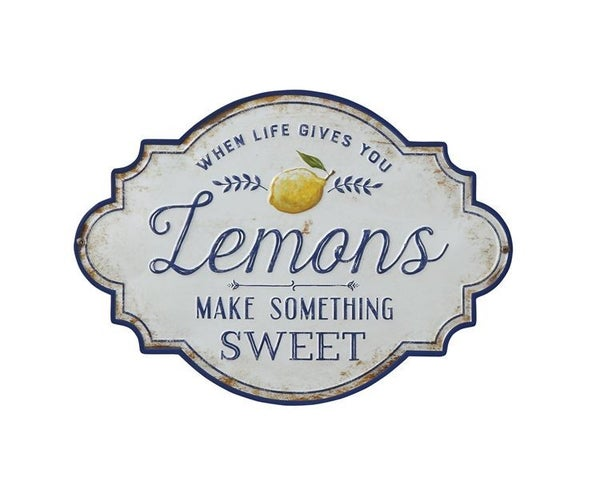 "Metal Wall Decor ""When Life Gives You Lemons Make Something Sweet"""