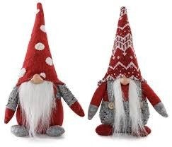 Plush Holiday Sitting Gnome Assorted