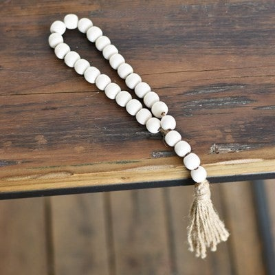"13"" WASHED BEAD WITH TASSLE"