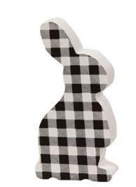 Black & White Buffalo Check Chunky Bunny