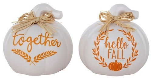 Ceramic Together/Fall Pumpkin