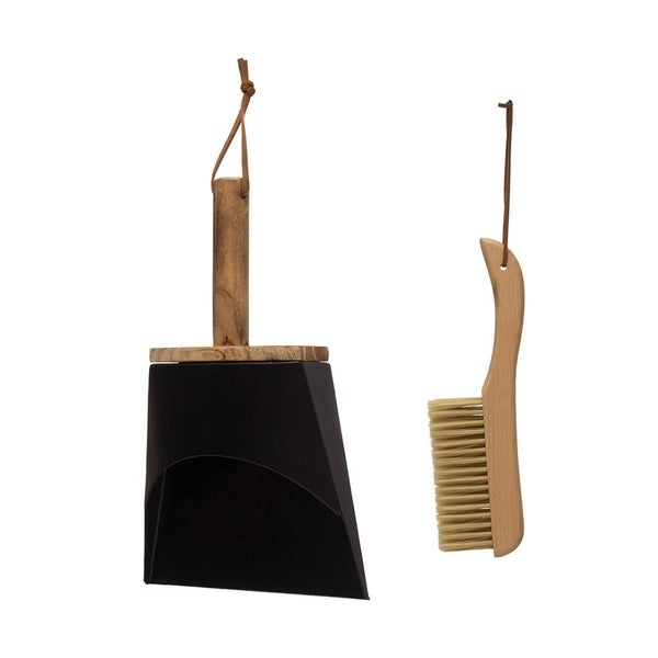 Beech Wood Brush & Metal Dust Pan