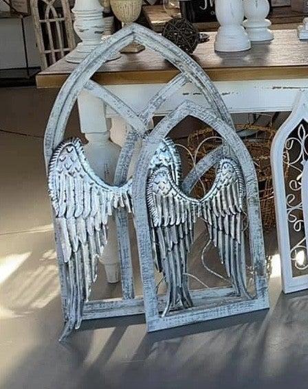 Metal Silver Angel Wings