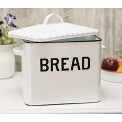 Black Rim Enamel Bread Box