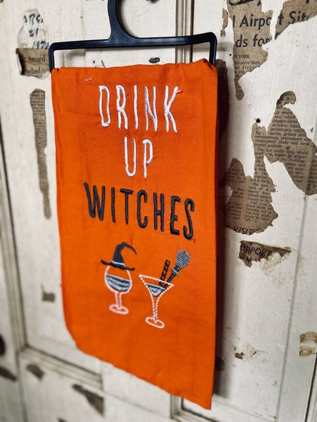 Dish Towel- Drink Up Witches