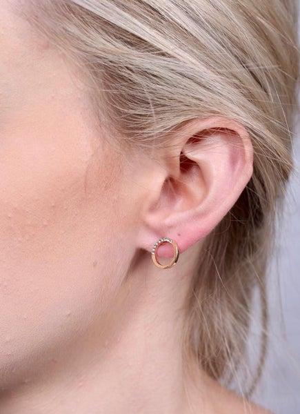 Boulder Cz Open Stud Earring
