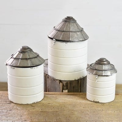 TIN SILO CANNISTERS