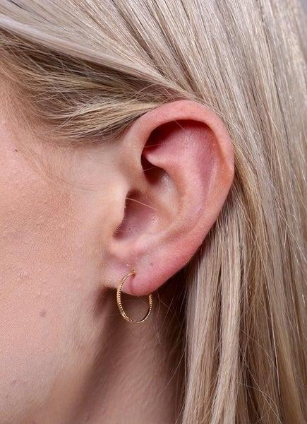 Burbank Textured Hoop Earring