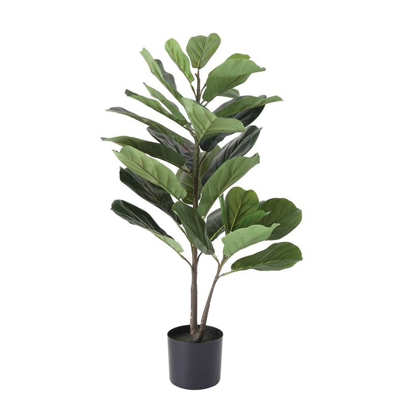 Faux Fiddle Fig Leaf in Pot