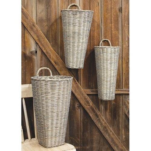 French Gray Wash Jorja Basket