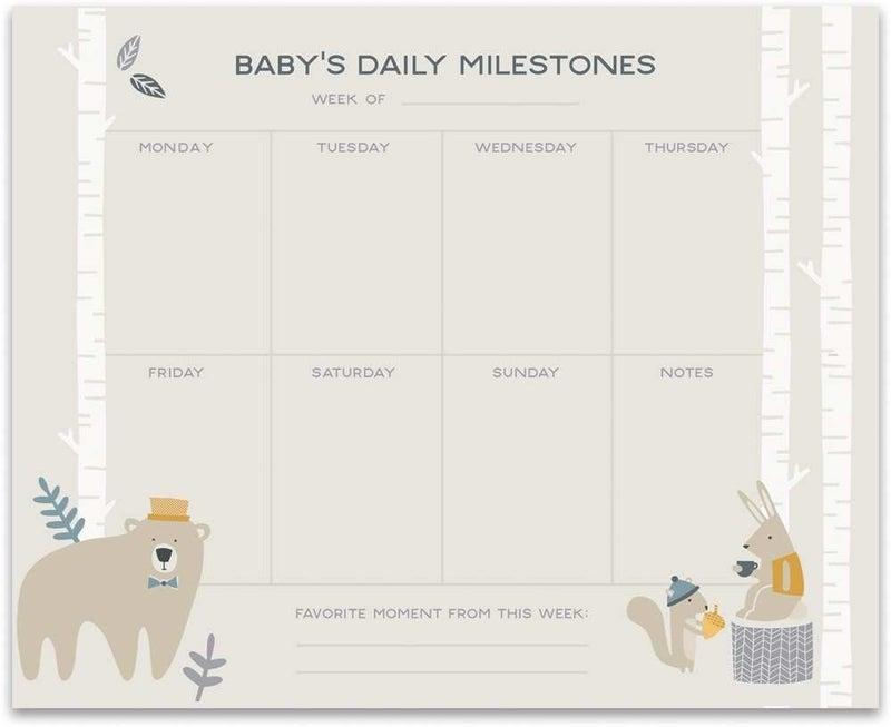 Notepad - Baby Milestone *Final Sale*