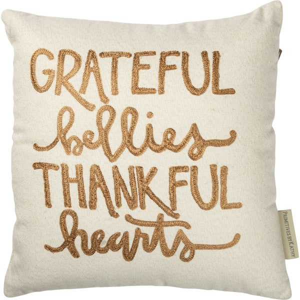 Pillow - Grateful Bellies Thankful Hearts