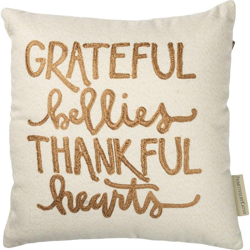 Pillow - Grateful Bellies Thankful Hearts