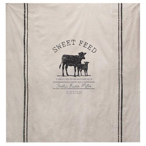 Sweet Feed Farmhouse Shower Curtain