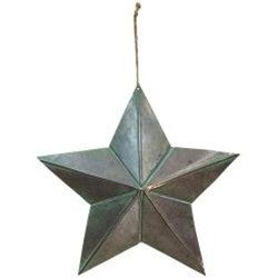"""Copper Tin Star Orn- 15"""""""
