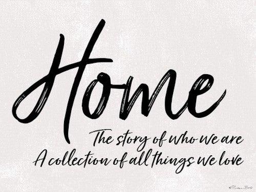 HOME STORY FRAMED PRINT