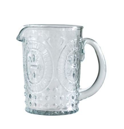 8 oz Embossed Glass Creamer