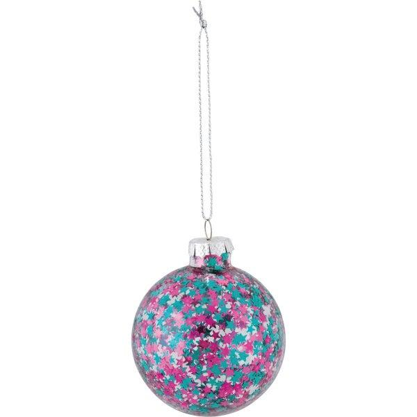 Ornament - Fuchsia Mix Confetti Stars