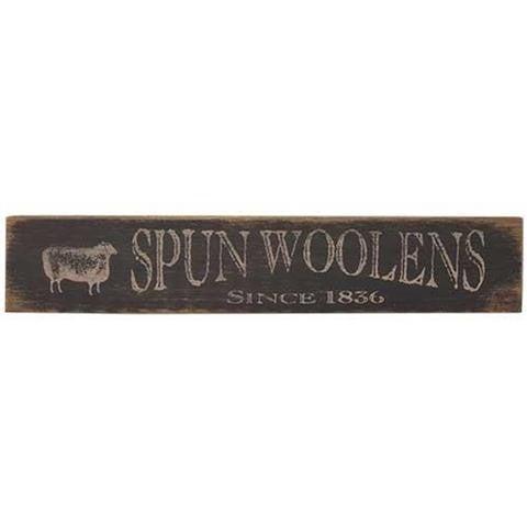 """Spun Woolen Sheep Black/White Distressed 18"""" Sign"""