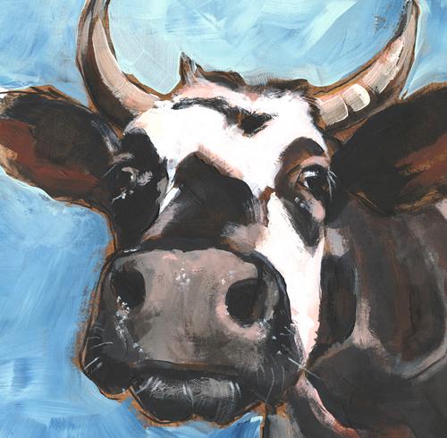COW BREATH FRAMED PRINT