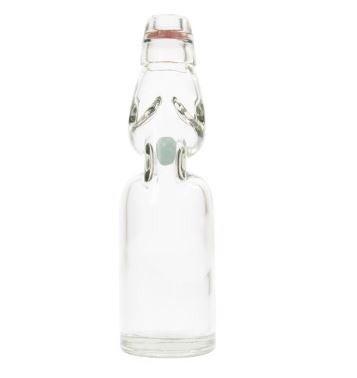 "8""H Decorative Vintage Reproduction Glass Soda Bottle"