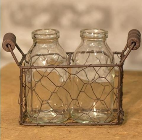 2 Bottles w/ Wire Carrier