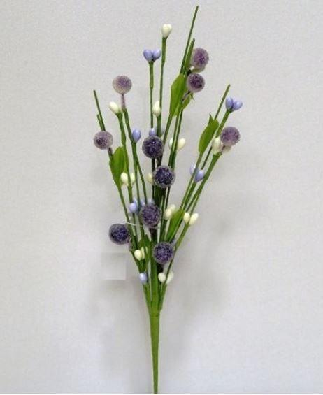"9.5"" Pip/Beaded Berry Pick - Purple / Cream"