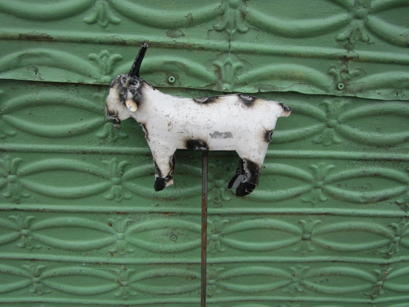 Recycled Metal Goat Yard Stake * LOCAL PICKUP ONLY*