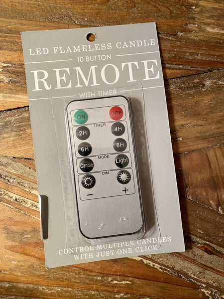 """""""Flameless Flicker"""" Brand Candle Remote"""